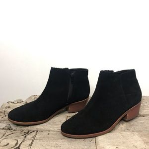 Jack Rogers Black Suede Ankle Booties